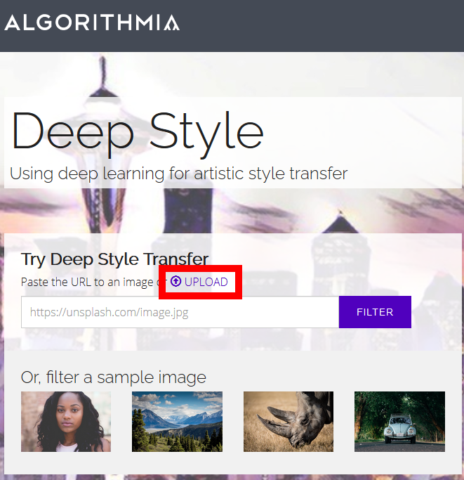 How to use Algorithmia to perform a style transfer