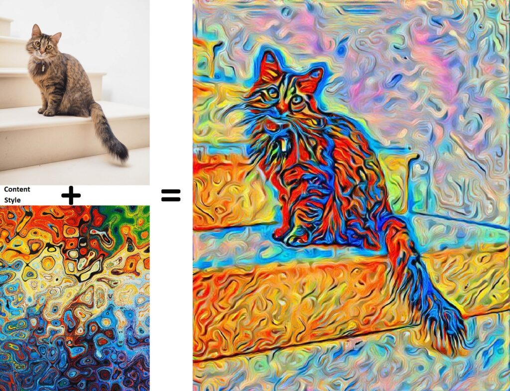 An example of using the style transfer guide